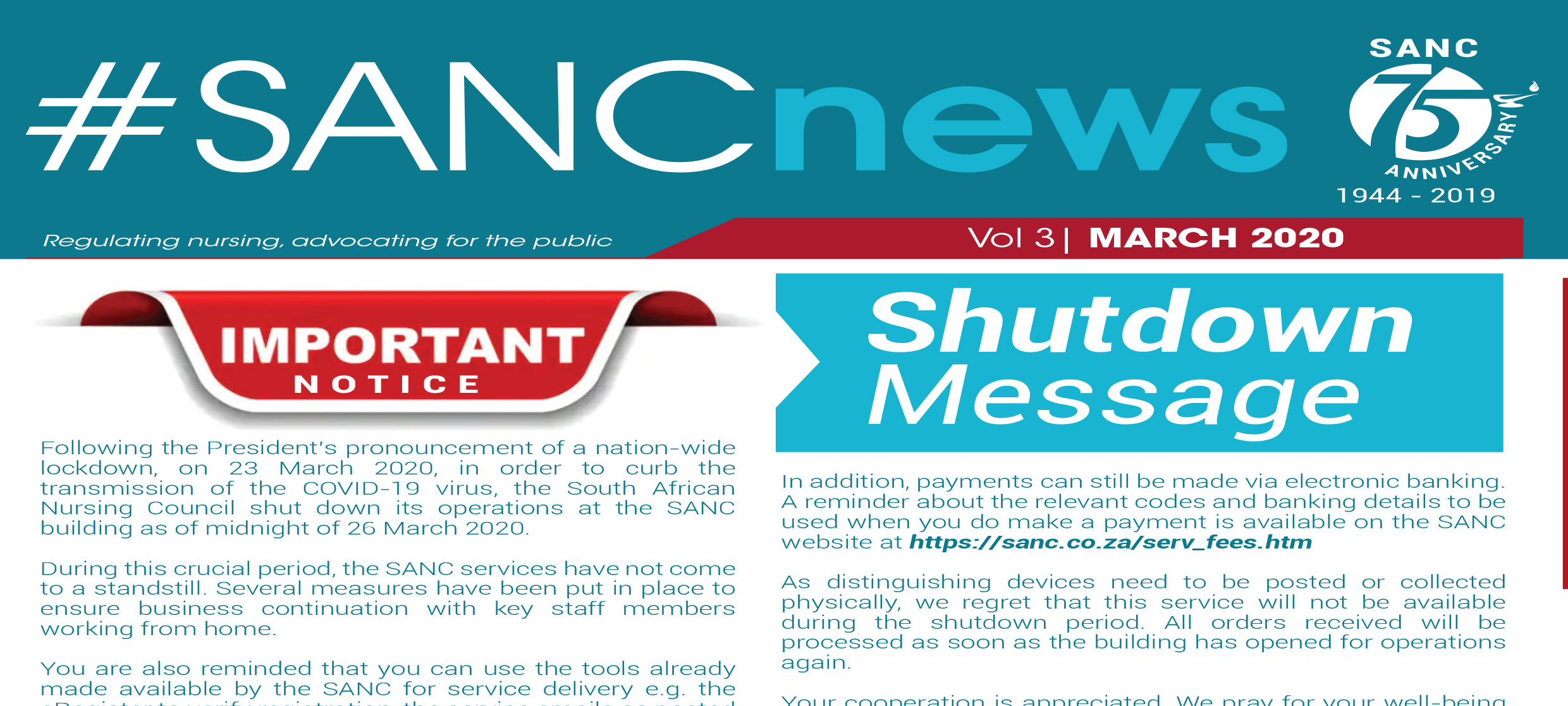 SANC Newsletter March 2020